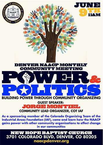 Denver NAACP Monthly Community Meeting – Power & Politics