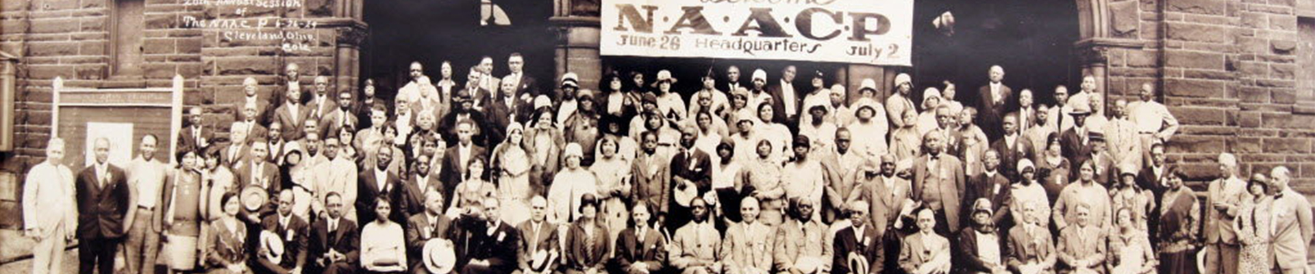 NAACP history banner